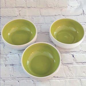 """Crate & Barrel """"Kelli Green"""" bowls"""